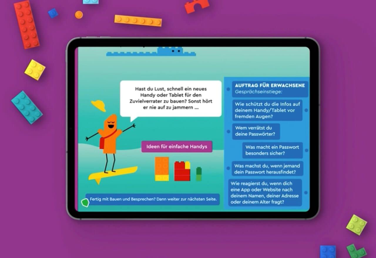 """Mit einer neuen """"Build & Talk"""" Aktivität bietet Lego Eltern eine Gelegenheit, mit ihren Kindern über Sicherheit und Wohlergehen im Internet zu sprechen."""