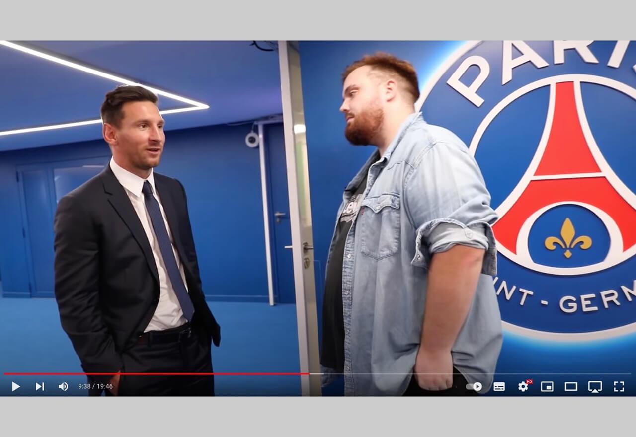 Der spanische Streamer Ibai Llanos war der erste, dem Lionel Messi nach seinem Wechsel zu Paris Saint-Germain ein Interview gab.