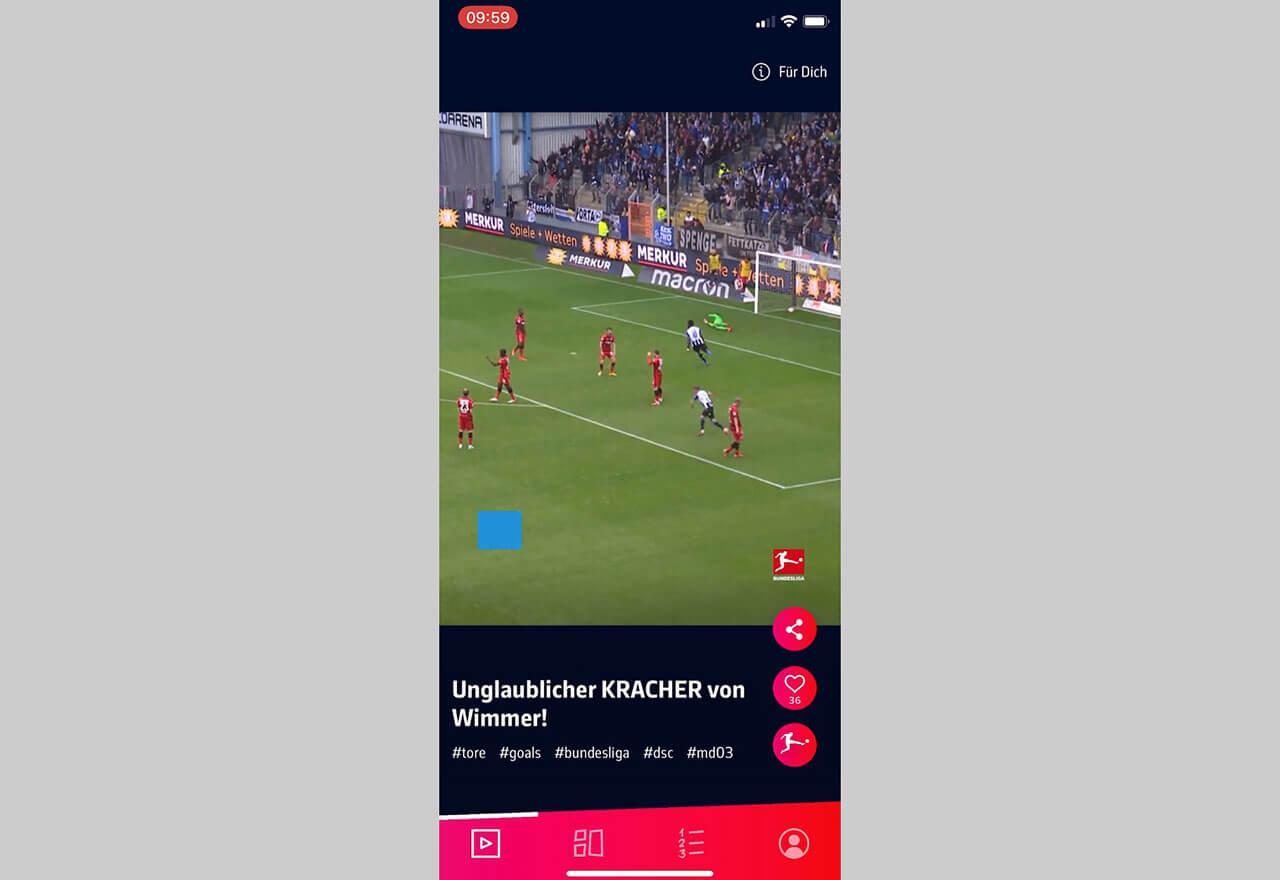"""Pünktlich zum Start der neuen Bundesliga-Saison ist die App """"Bundesliga NEXT"""" erschienen."""