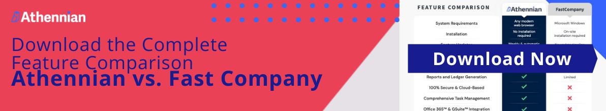 Feature Comparison Fast Company & Athennian