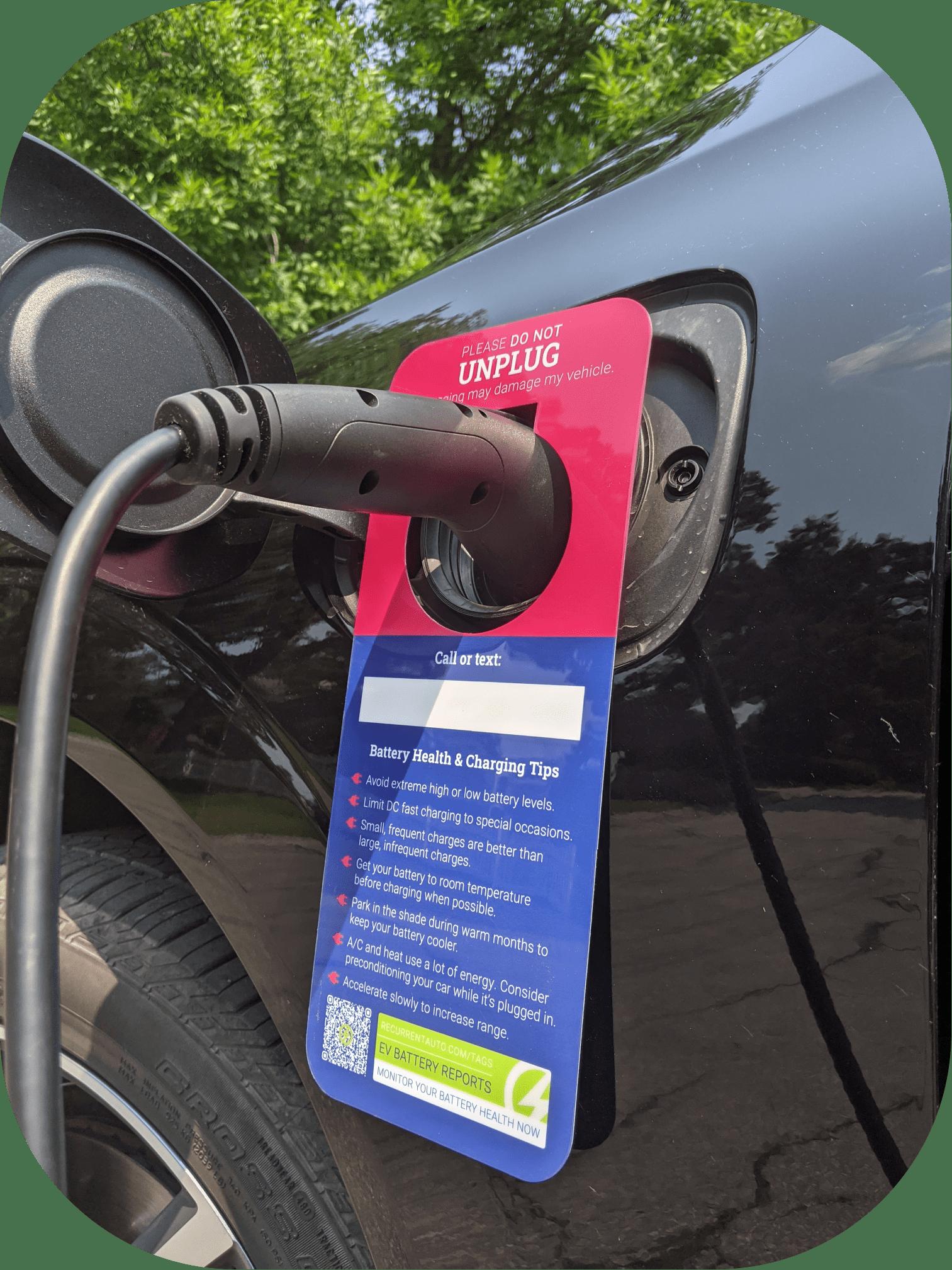 EV charging signs