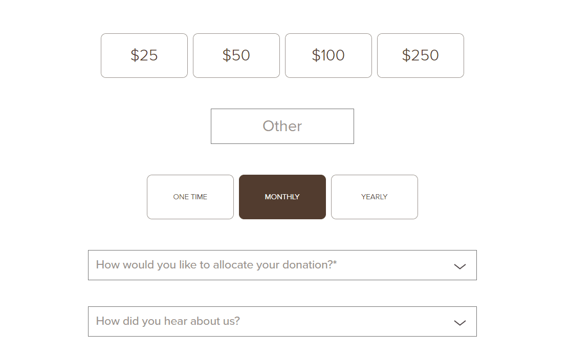 Multiple Payment Options for your donations
