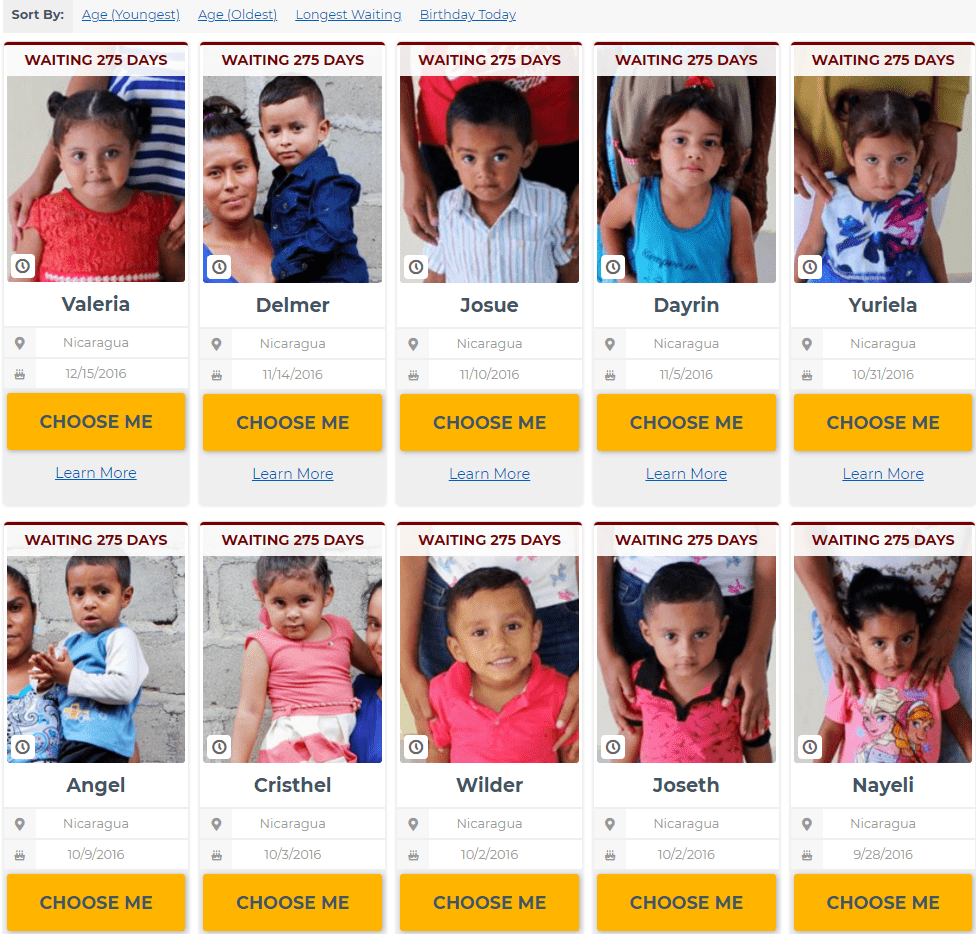 sponsor a child with donations