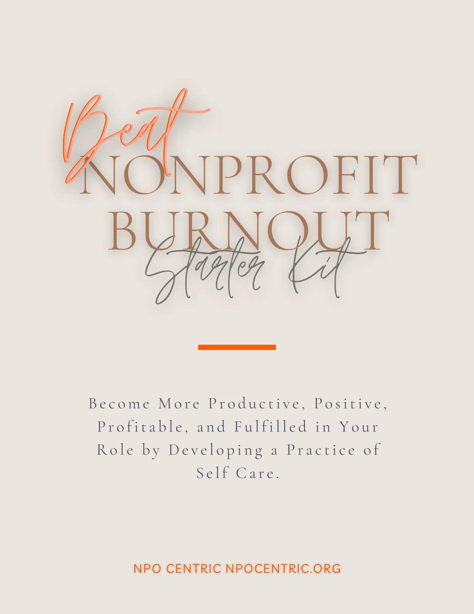 Beat Nonprofit Burnout