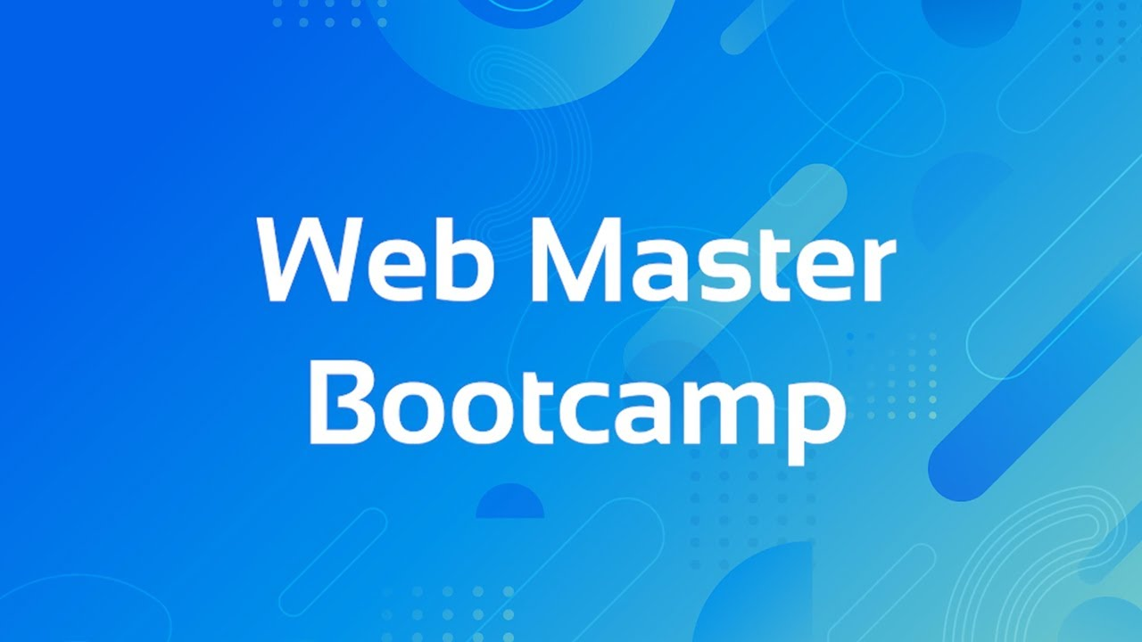 Web Master Bootcamp: Frontend + Backend