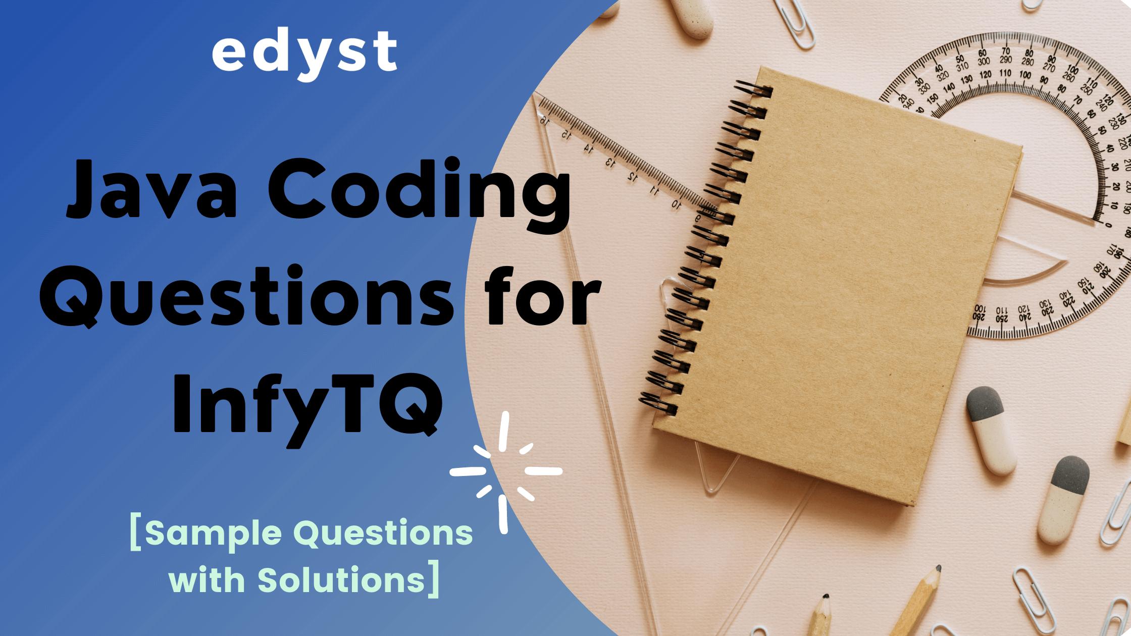 InfyTQ - Java Coding Questions