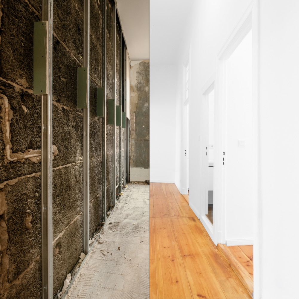 flat renovation, home interior before and after modernization