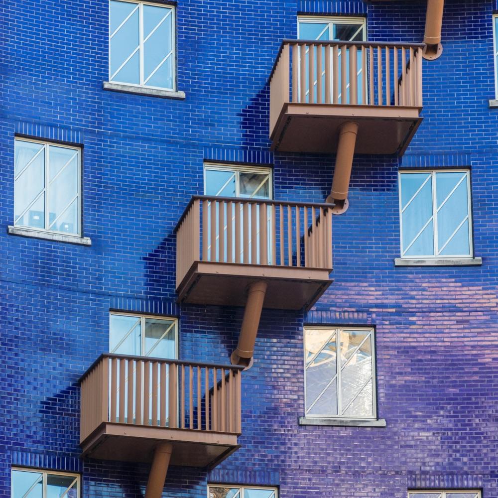 blue exterior building in london bridge area