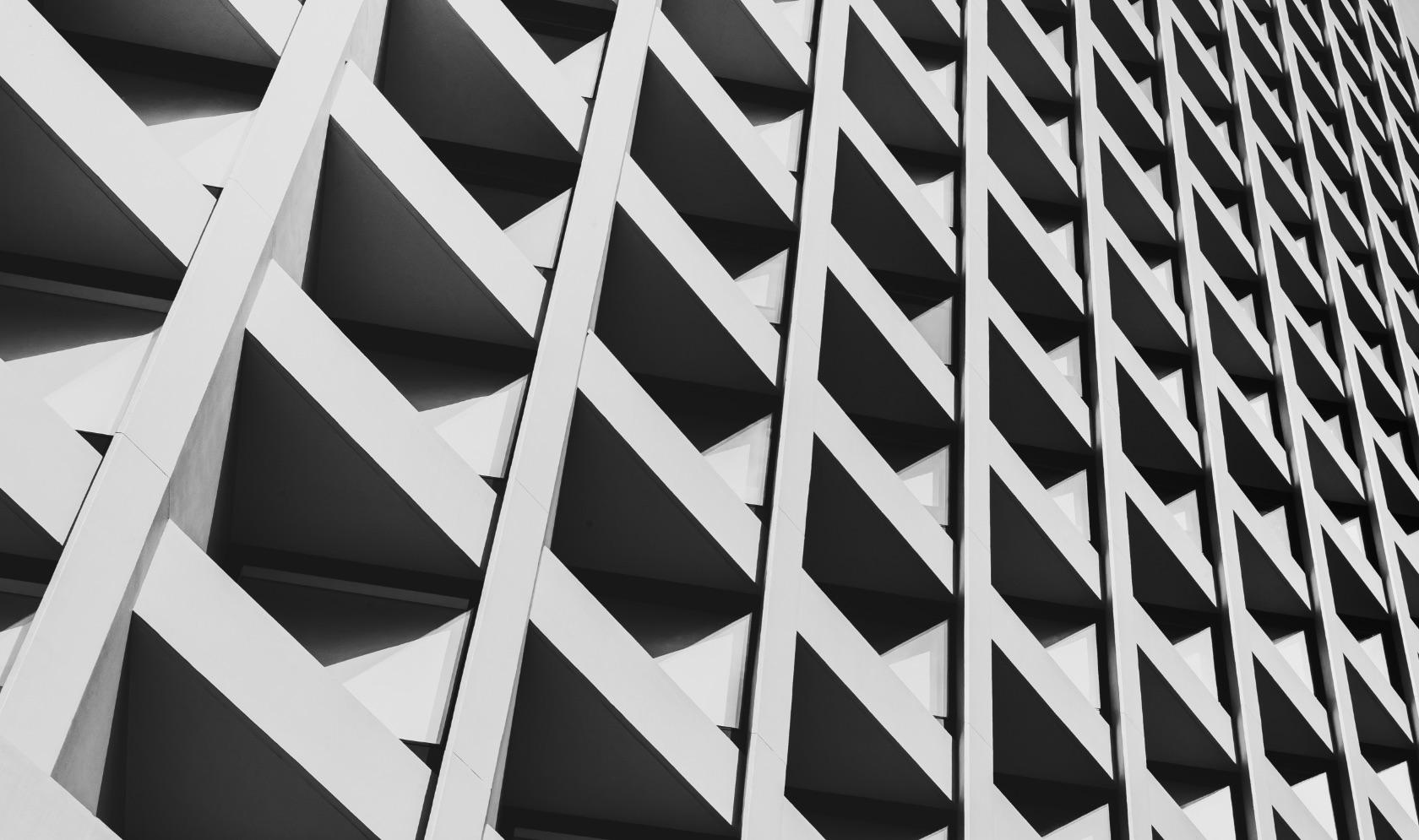 Modern design architecture facade in white