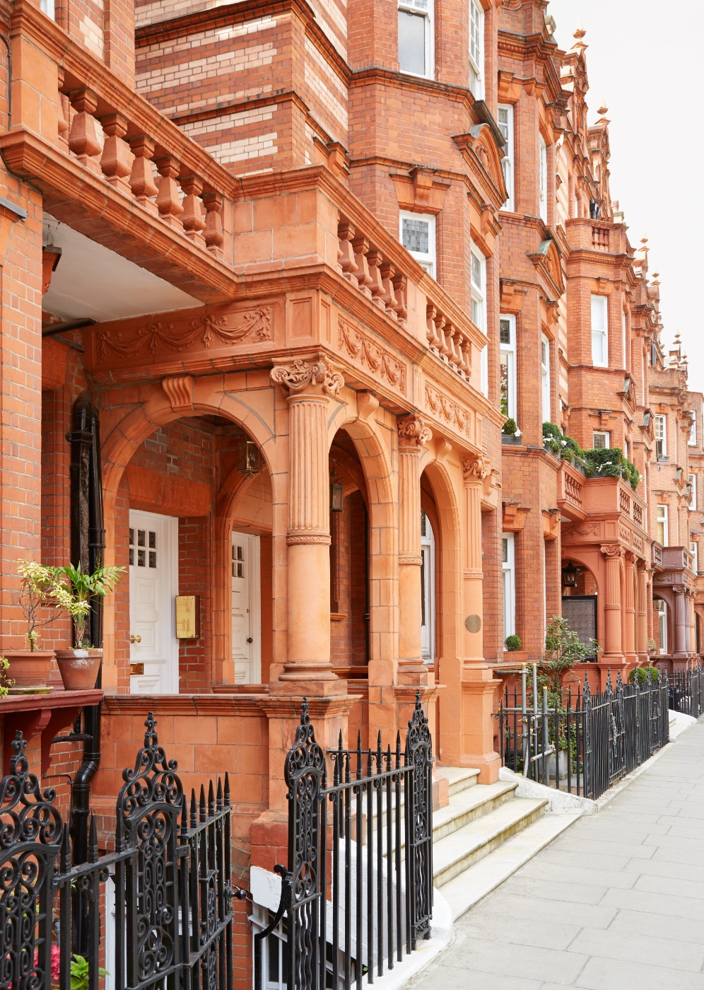 Red bricks victorian houses in london