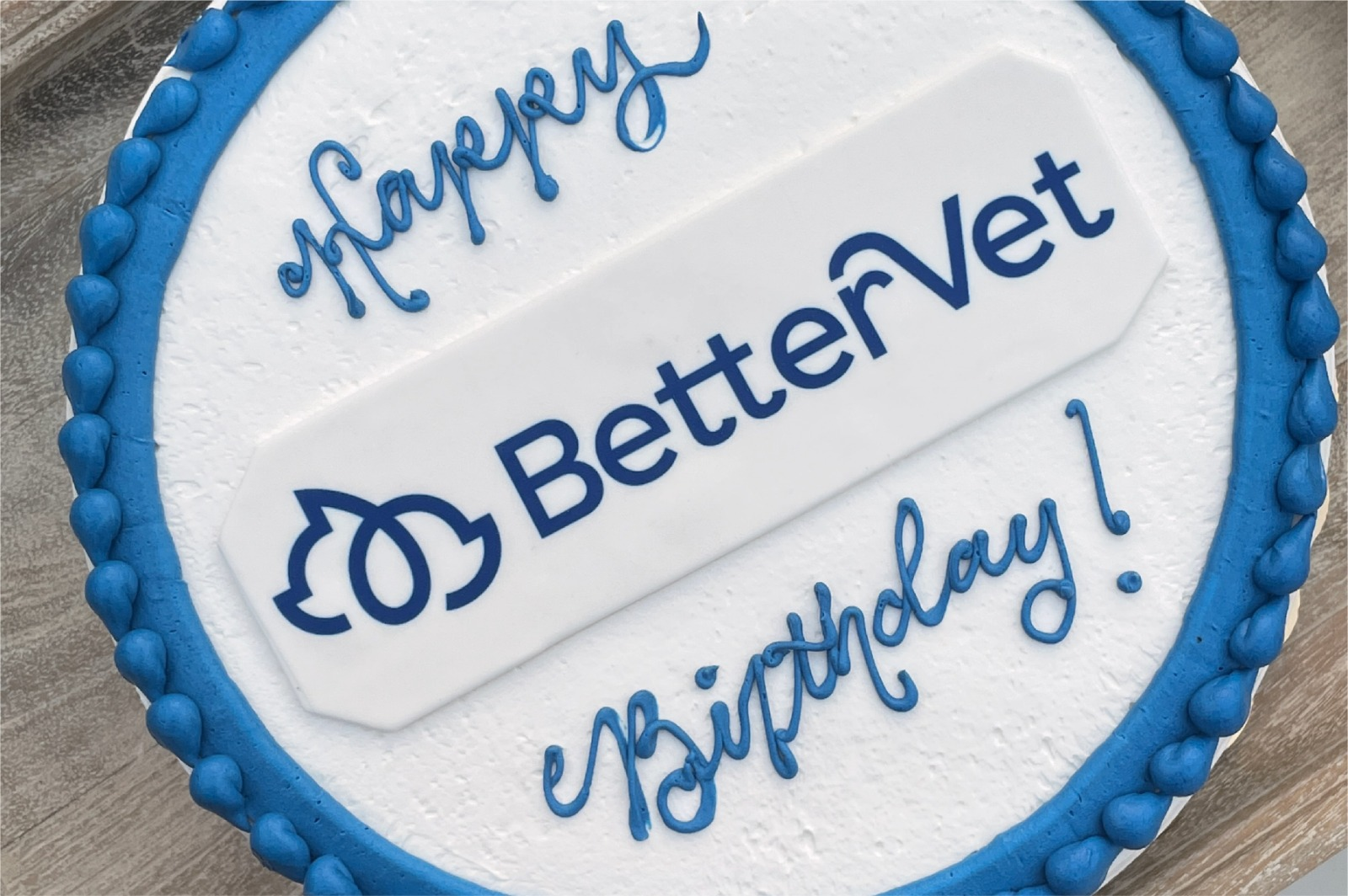 BetterVet birthday cake.