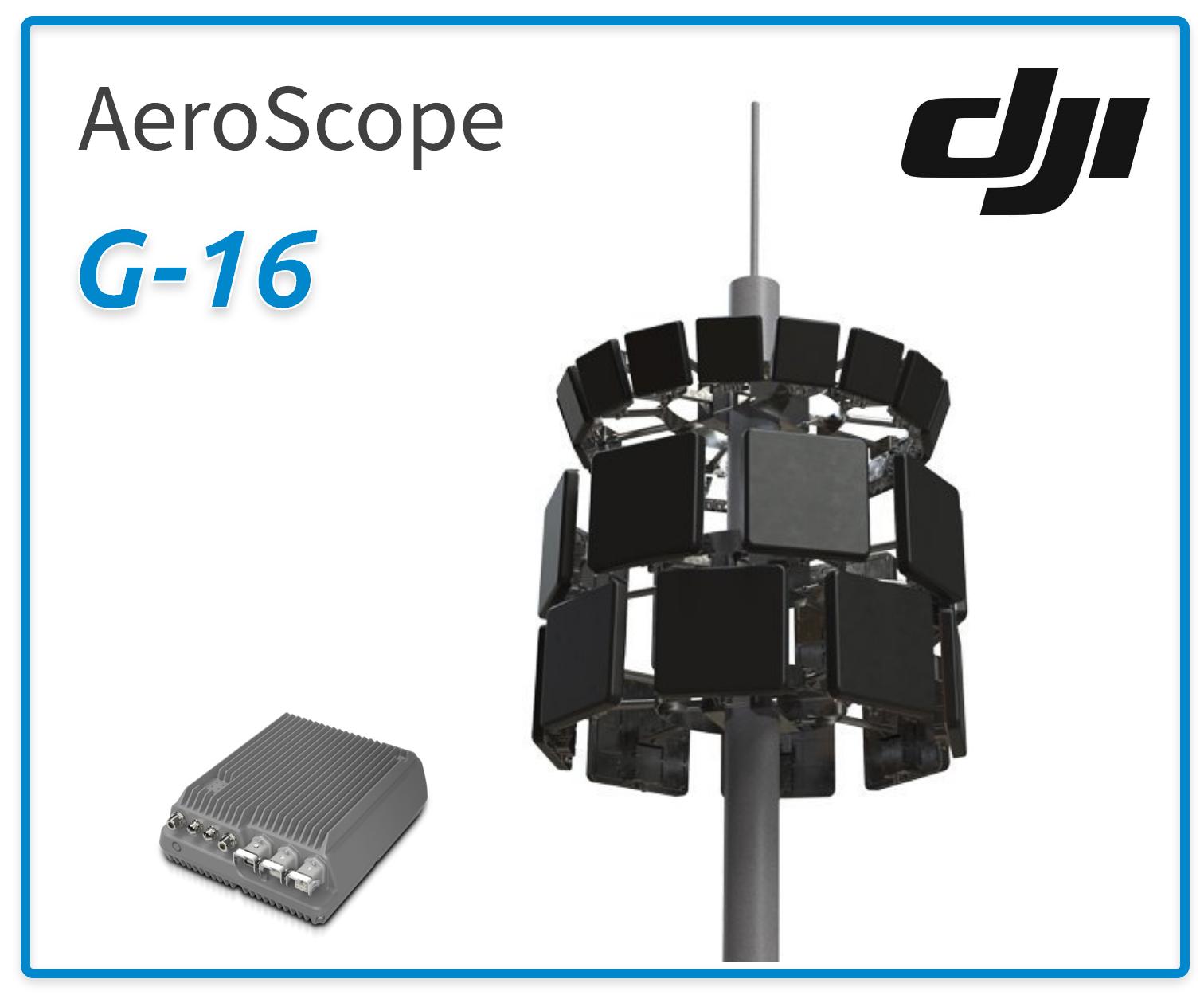dji aeroscope g-16 drone detection antenna