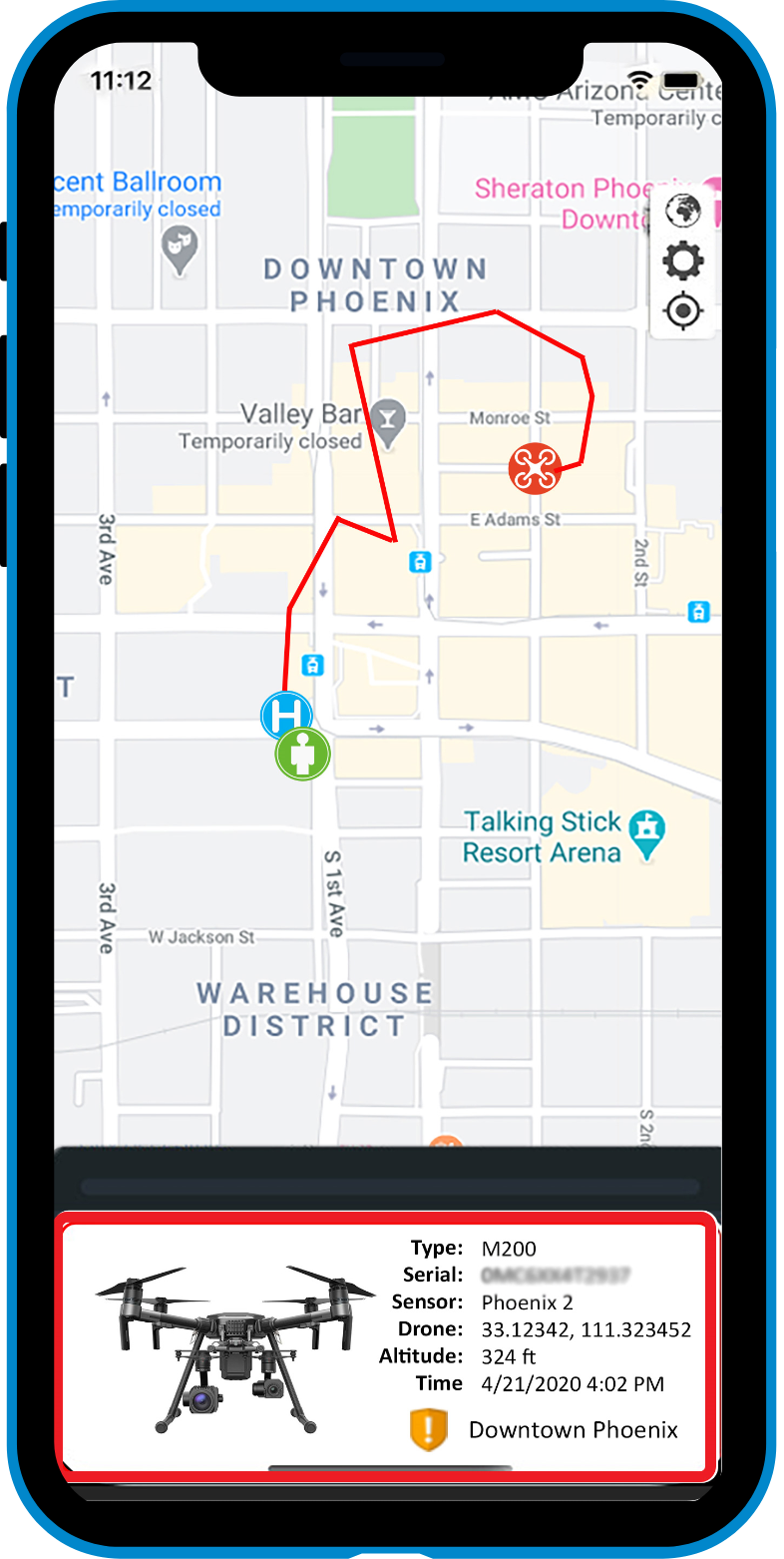 aerial armor drone detection app mobile phone