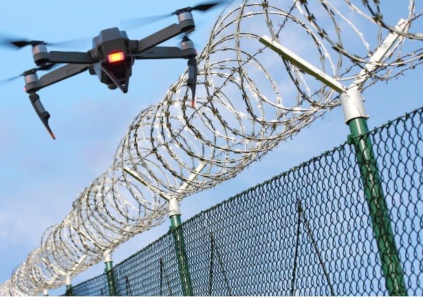 drone detection for prisons fence and drone