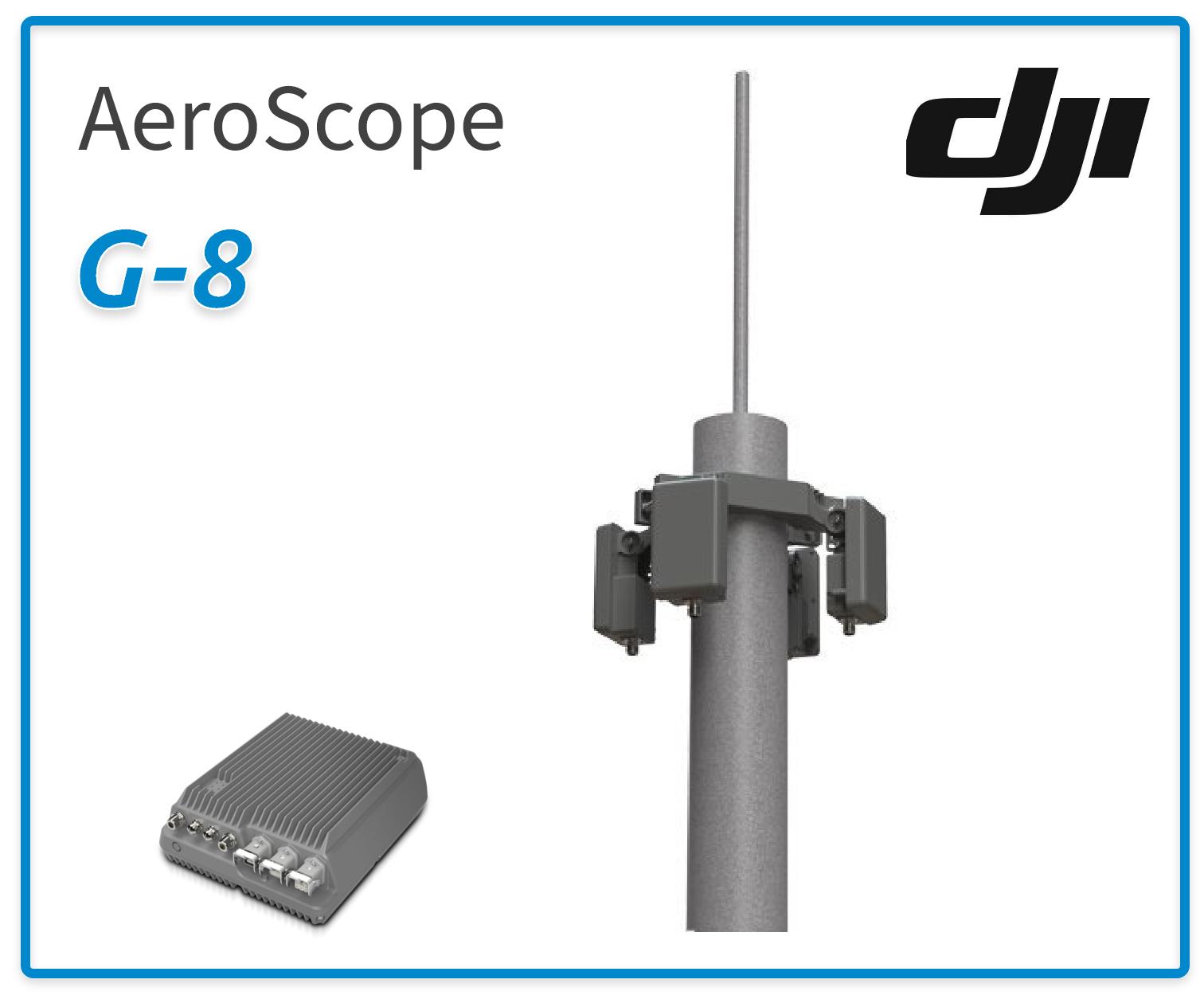dji aeroscope g-8 drone detection radar