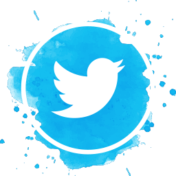 Twitter Watercolor Icon