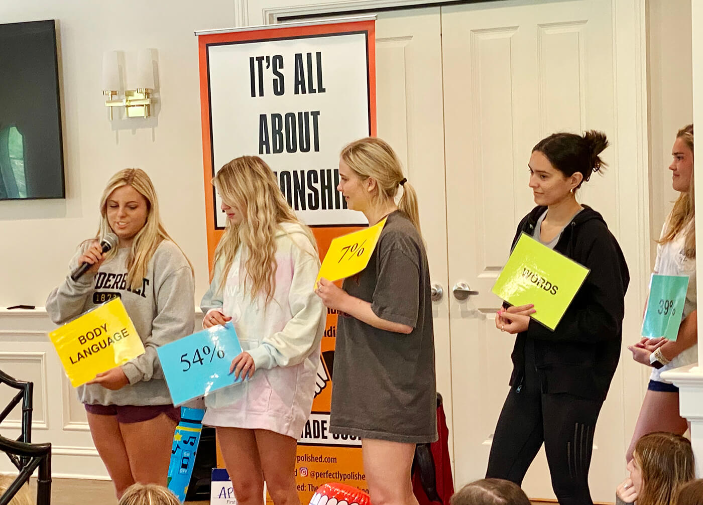 Perfectly Polished teaches a class about networking for a collegiate sorority.
