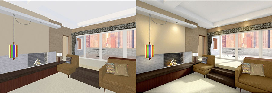 How to enhance the atmosphere of 3d models with light baking?
