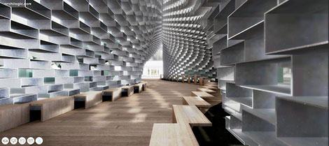 Interactive Serpentine Pavilion from Bjarke Ingels Group in 3D