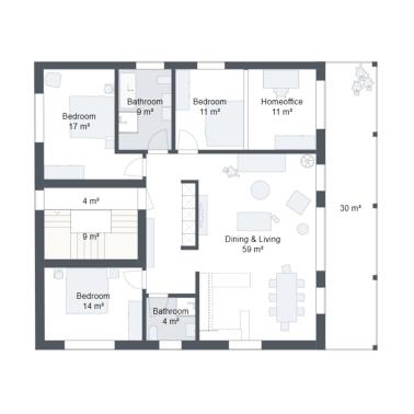 How to export your 3D floor plan in 2D format