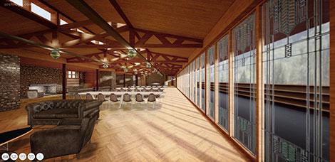 Visit Frank Lloyd Wright's Banff Pavillion in 3D