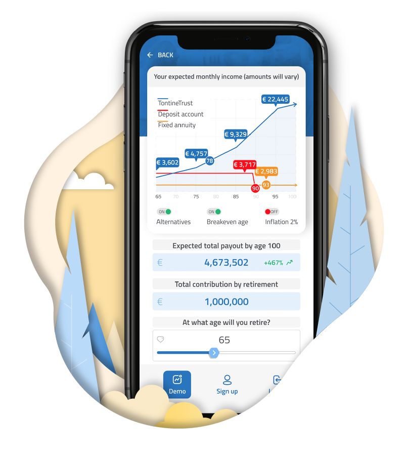 MyTontine app lets you retire and generate a lifelong growing income