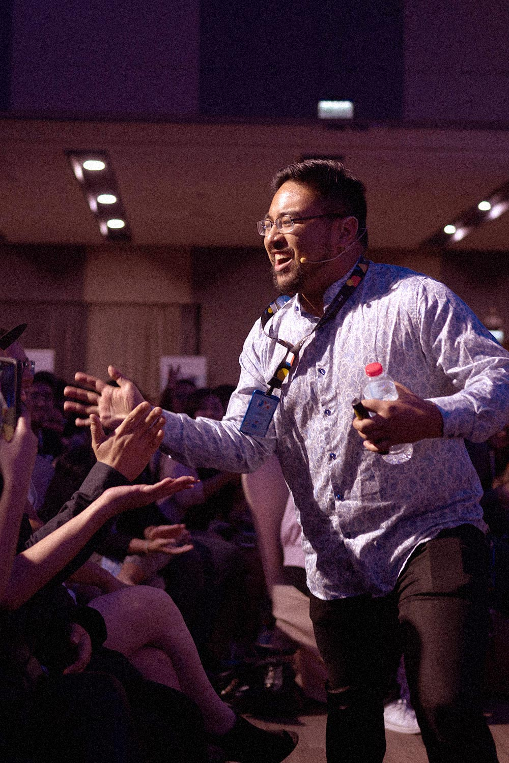 Speaker from UX+ Conference 2019 with the crowd