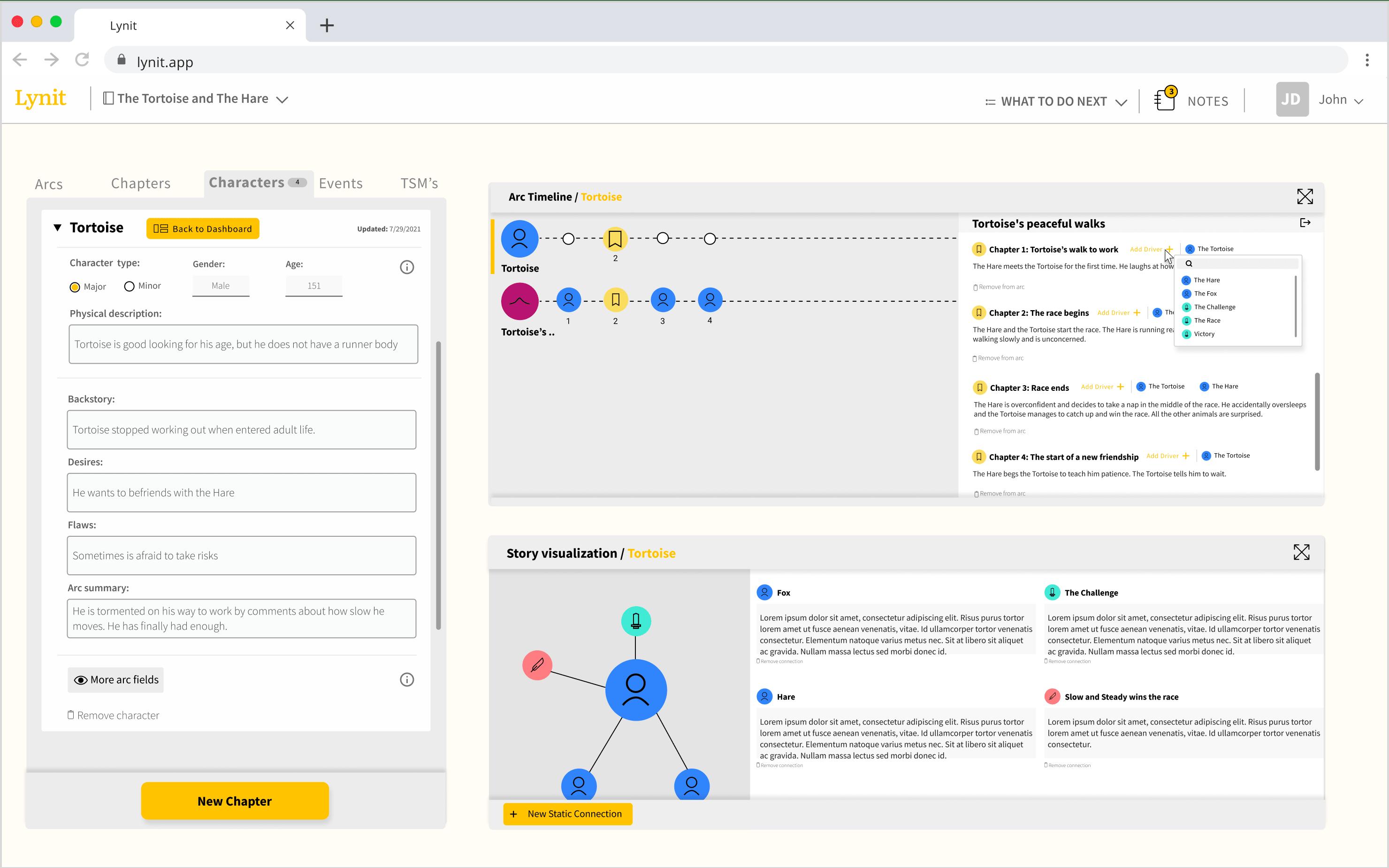 Screenshot of Lynit in Deep Mode