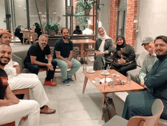 Circle gathering in Saudi Arabia