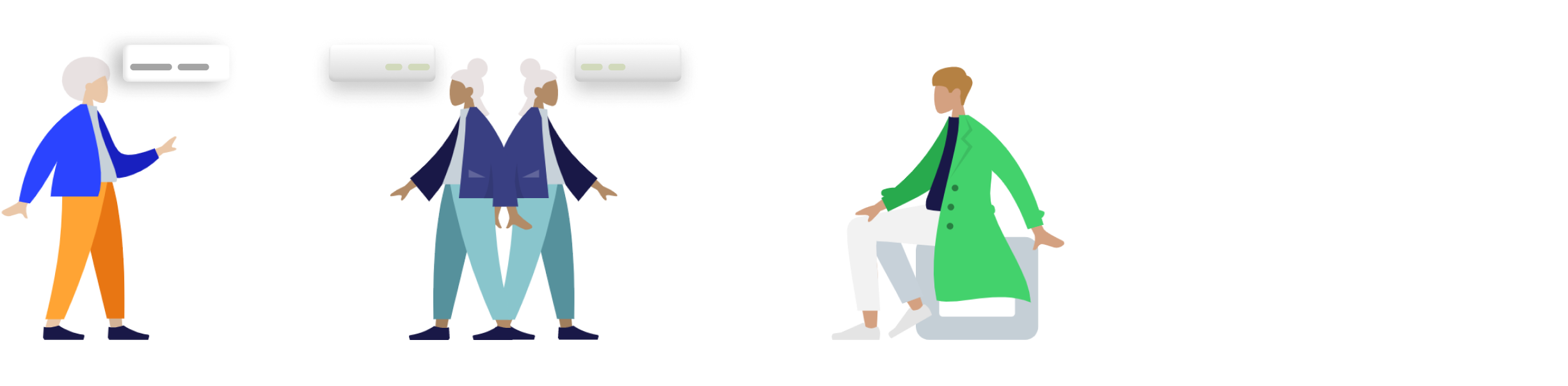 Section graphic. Shows the sales process