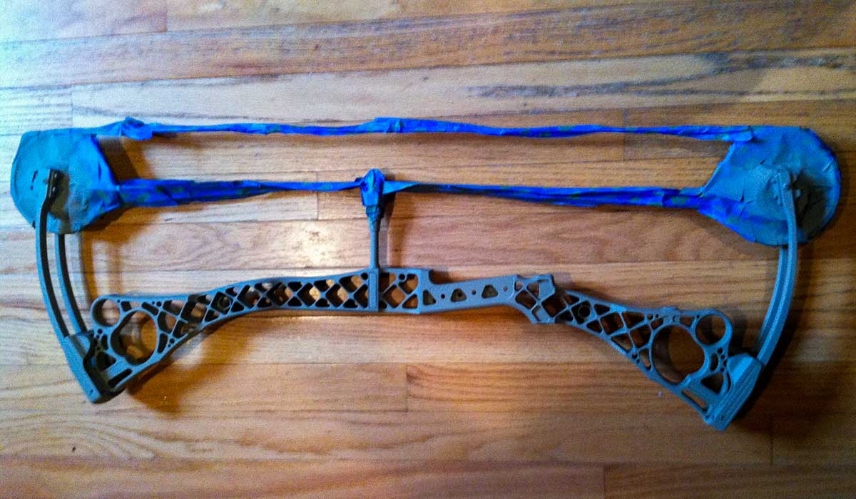 Applying the base coat to your bow