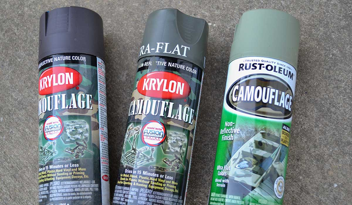 Camouflage paint options for your bow