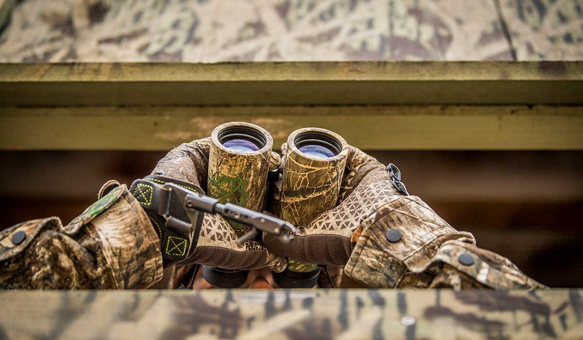 A hunting blind can help contain your scent during windy conditions