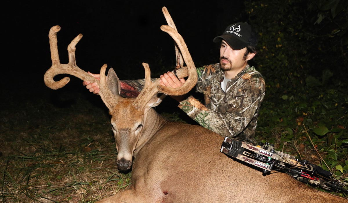 Whitetail hunting success while it's raining