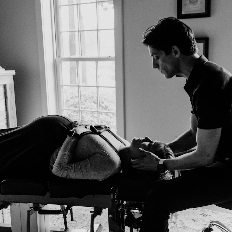pregnant woman given chiropractic services