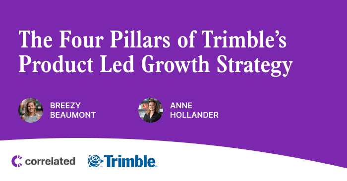The Four Pillars of Trimble's Product Led Growth Strategy