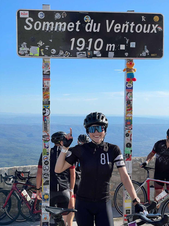 Erika Van Tielen op de Mont Ventoux