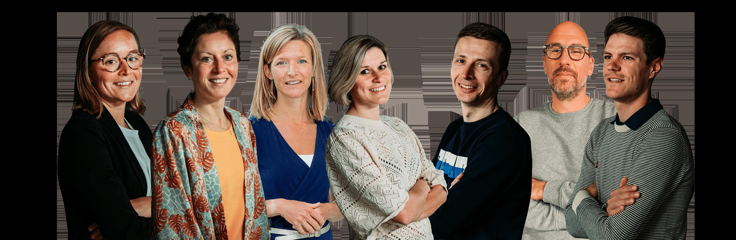 Groepsfoto team van experten