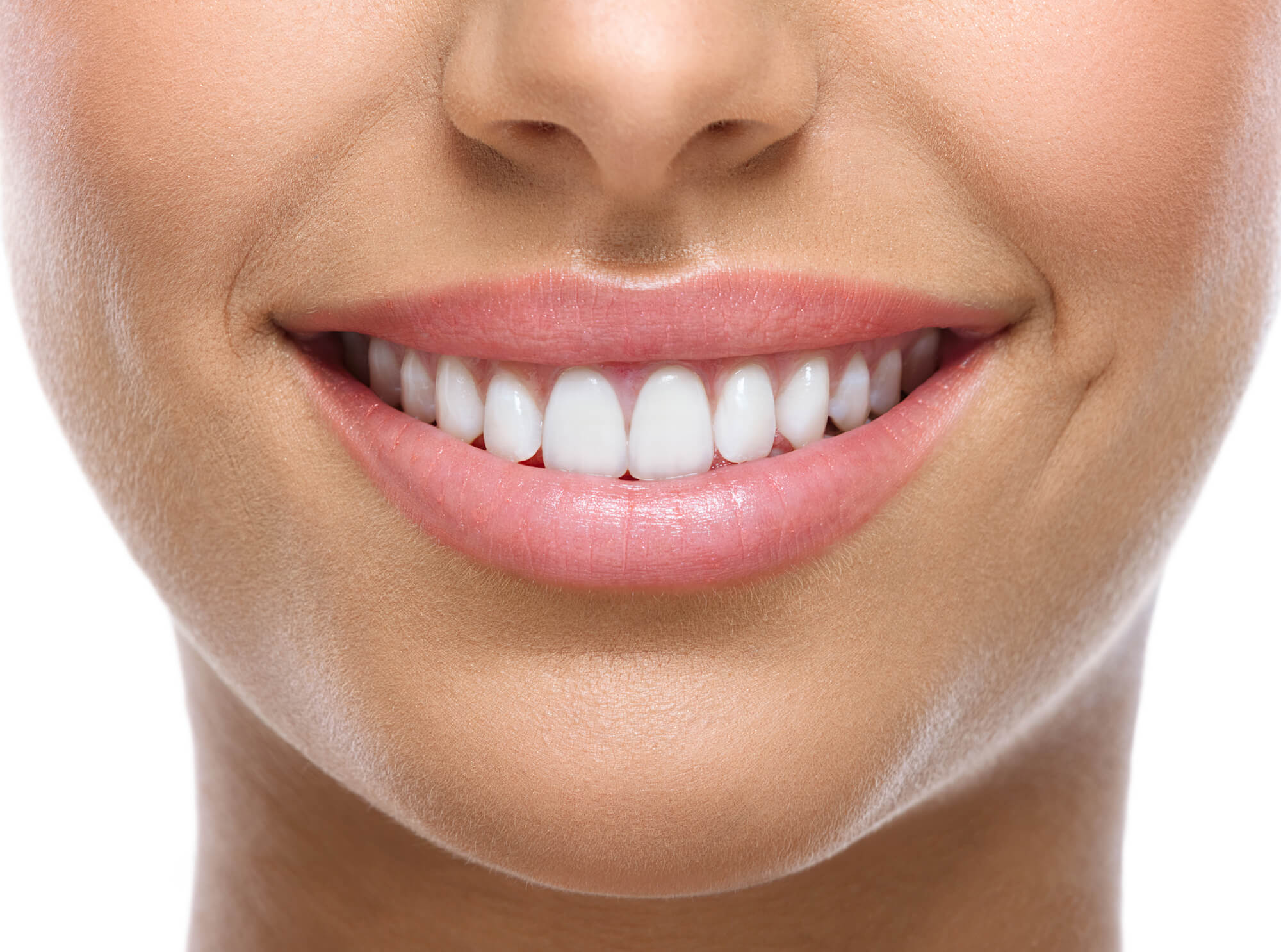 Closeup of a smiling patient after visiting a dentist in denver