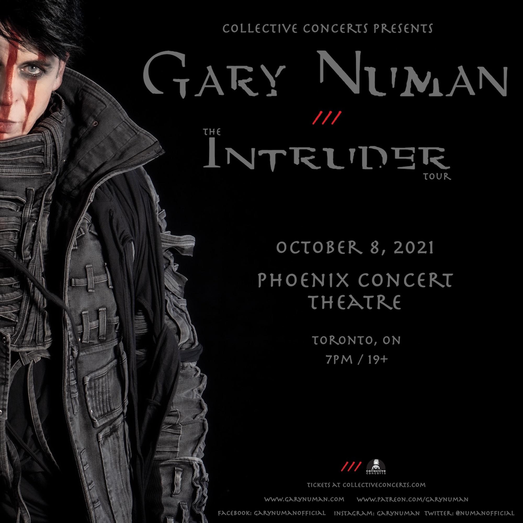 Gary Numan - The Intruder Tour (POSTPONED)