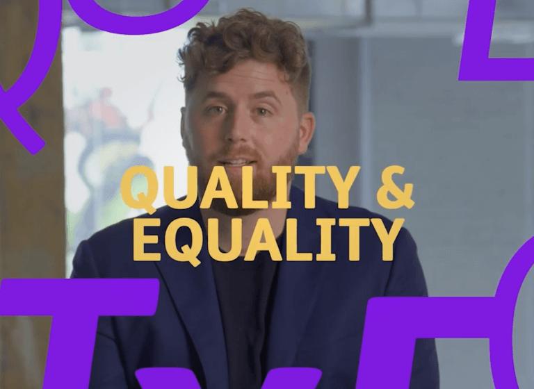 Quality & equality image