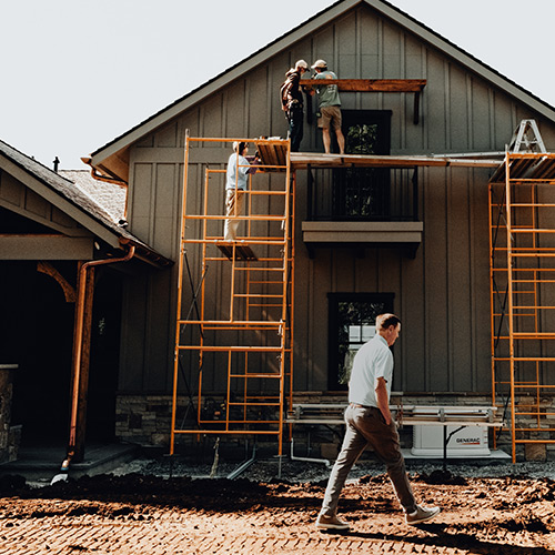 LA Construction, an East Tennessee custom home builder, team members at work.