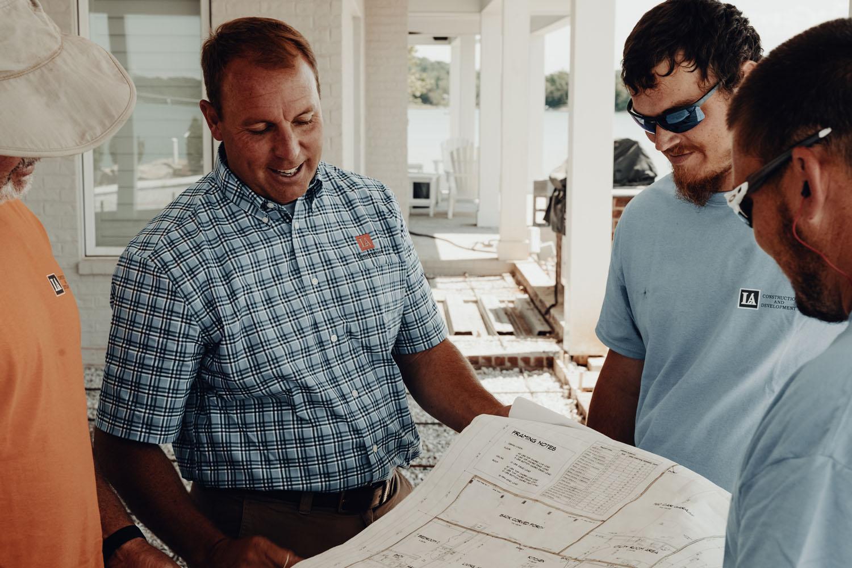 Custom home plans by LA Construction.