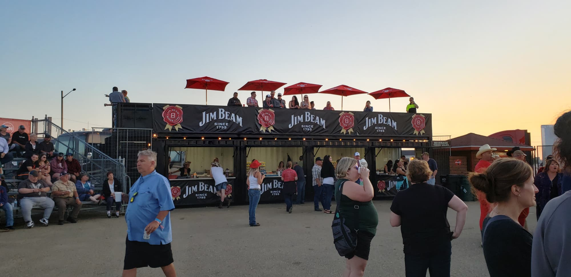 bar patio shipping container conversion at a large event