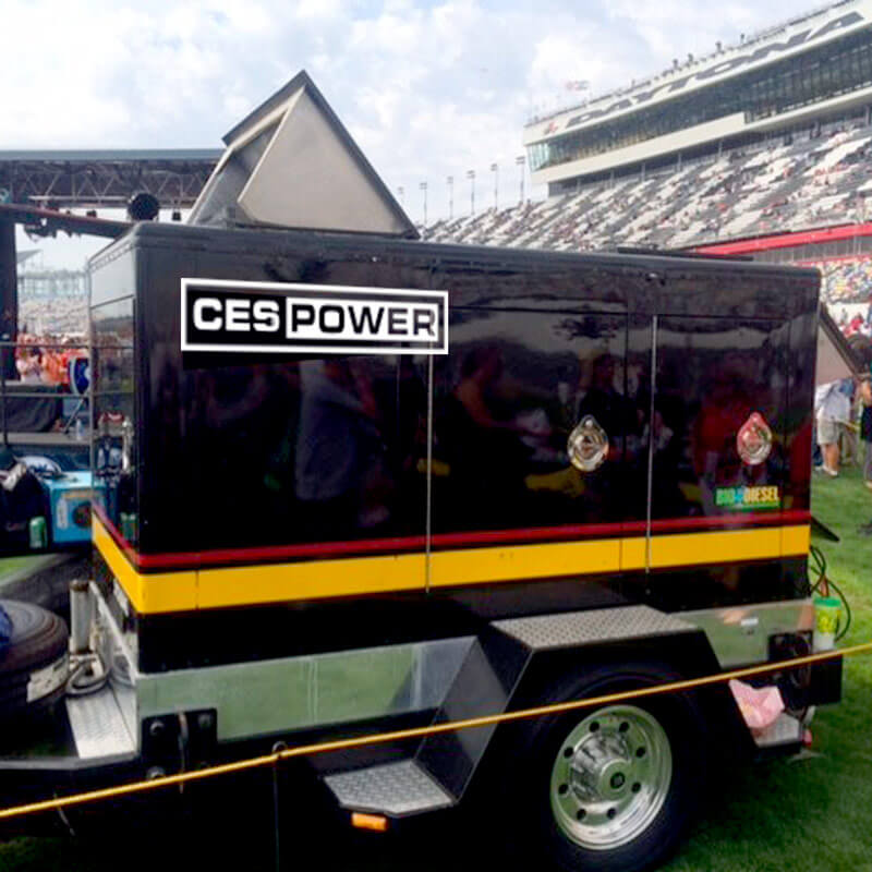 Large generator for event power.