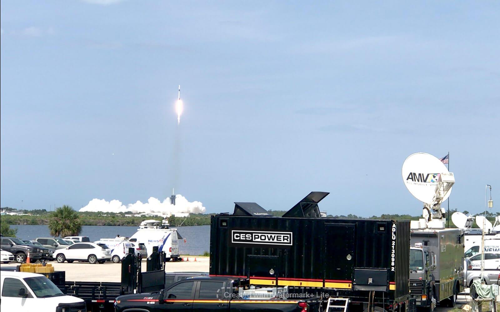 CES Power providing services at a rocket launch.