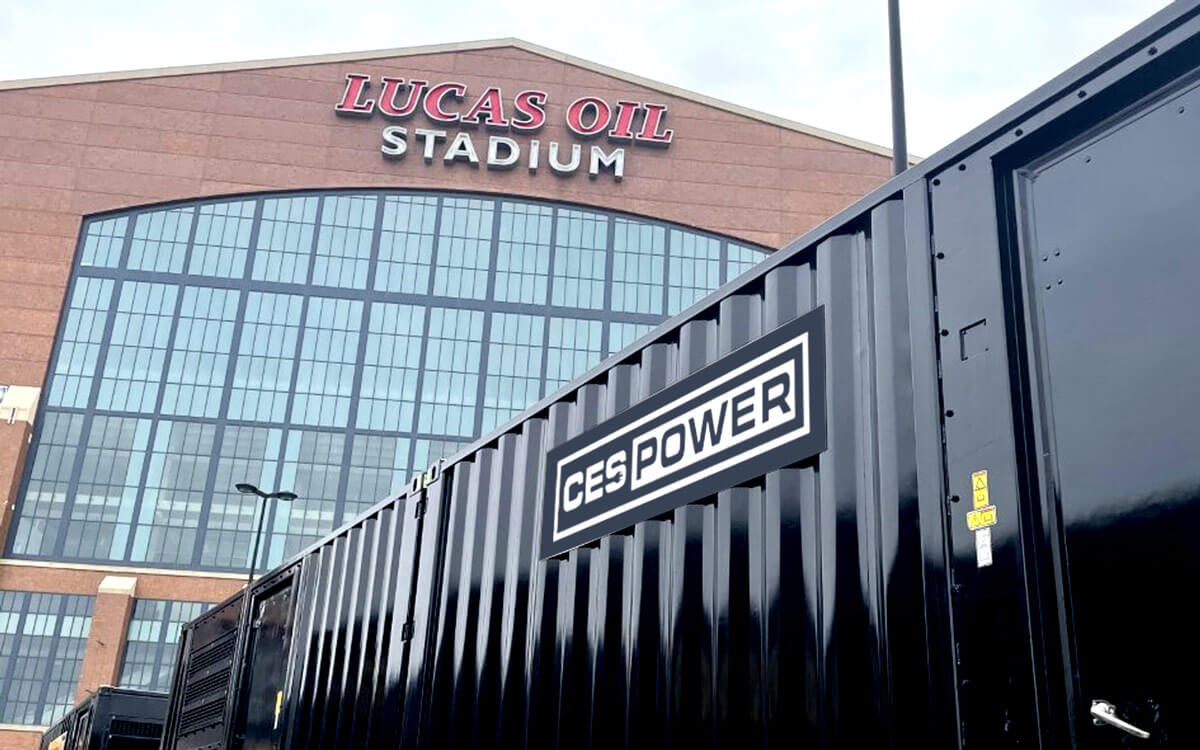 Lucas Oil Stadium event with CES Power providing services.