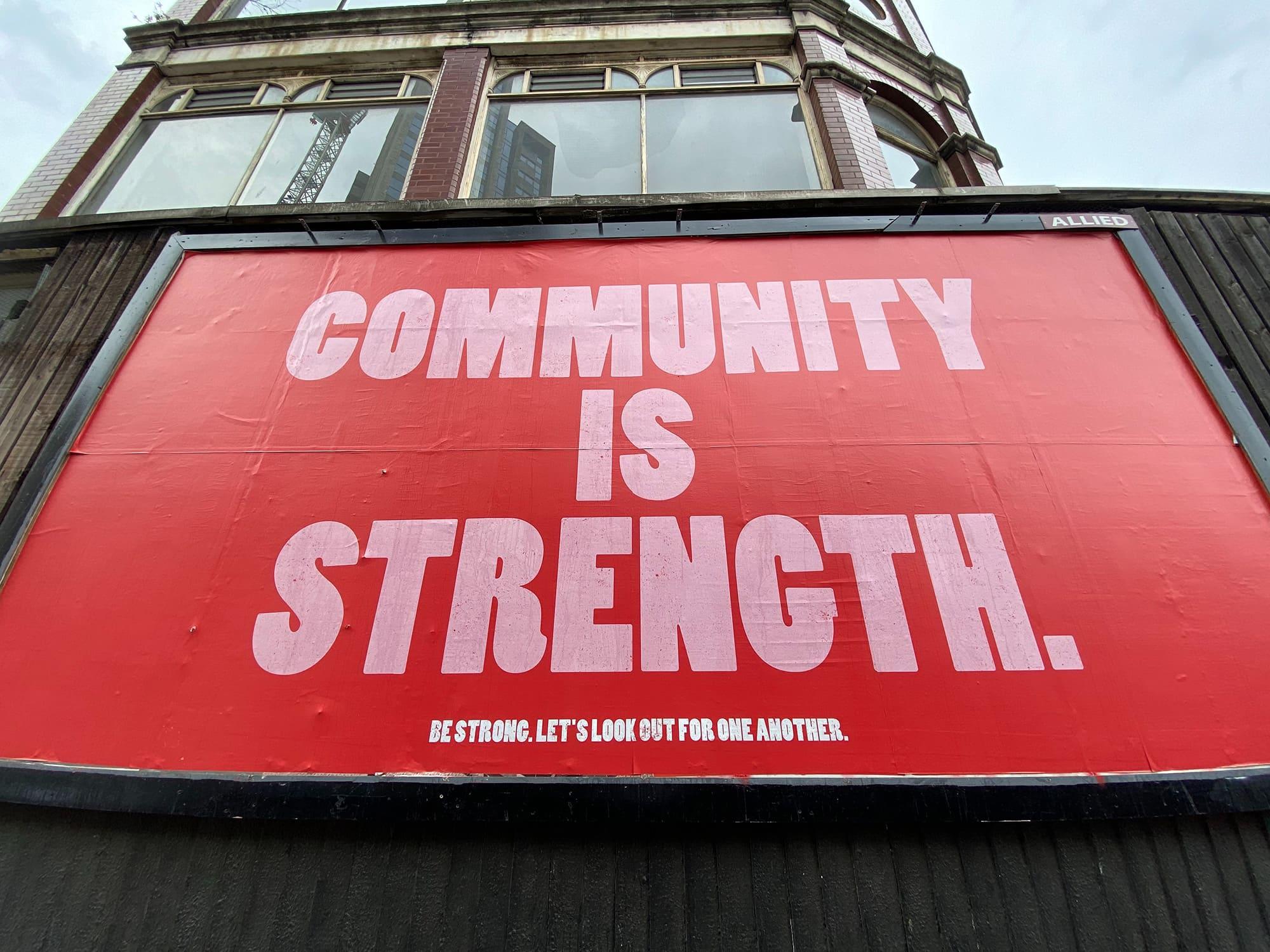 community is strength