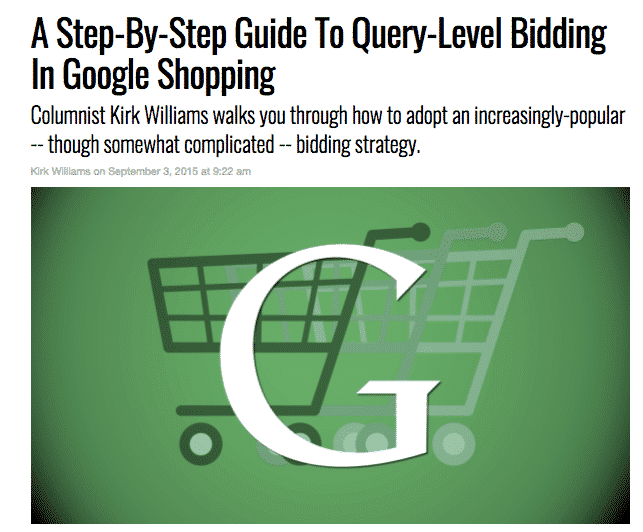 search query bidding in google ads