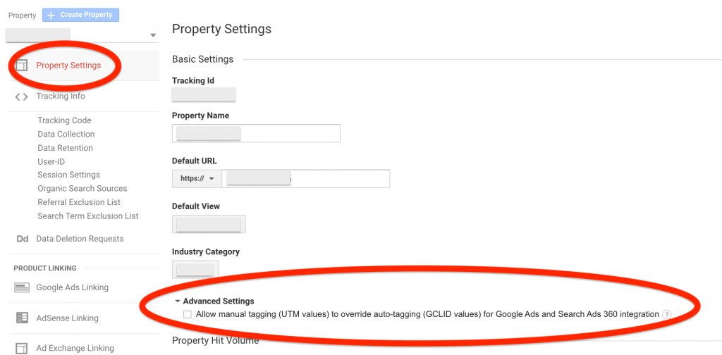 google analytics auto tagging manual ovveride